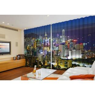 """ФотоШторы широкие """"Гонконг"""""""