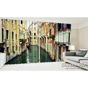 """ФотоШторы широкие """"Венецианская улочка"""""""