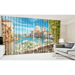 """ФотоШторы широкие """"Балкон в Венеции"""""""