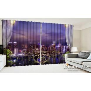"""ФотоШторы широкие """"Балкон в Нью-Йорке"""""""