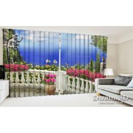 """ФотоШторы широкие """"Греческий балкон"""""""