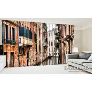 """ФотоШторы широкие """"Канал в Венеции"""""""