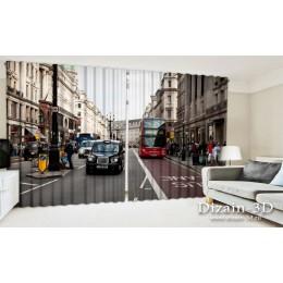 """ФотоШторы широкие """"Лондонский проспект"""""""