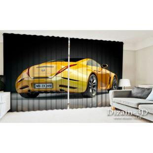 """ФотоШторы широкие """"Желтая машина"""""""