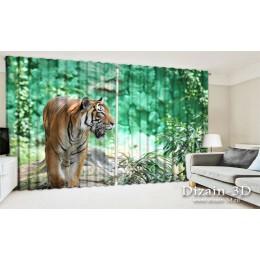 """ФотоШторы широкие """"Величественный тигр"""""""