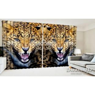 "ФотоШторы широкие ""Леопард"""