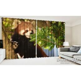 """ФотоШторы широкие """"Малая панда на дереве"""""""