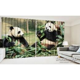 """ФотоШторы широкие """"Панды"""""""