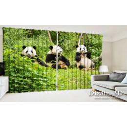 """ФотоШторы широкие """"Счастливые панды"""""""