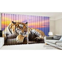 "ФотоШторы широкие ""Тигр"""