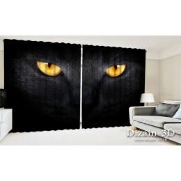 """ФотоШторы широкие """"Черный кот"""""""