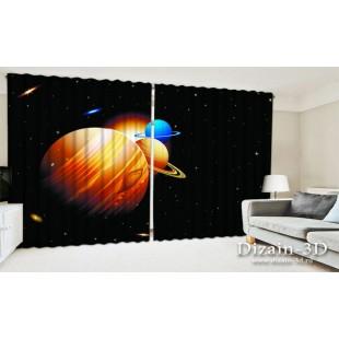 """ФотоШторы широкие """"Планеты солнечной системы"""""""