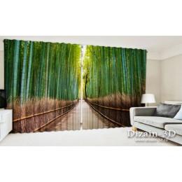 """ФотоШторы широкие """"Бамбуковый лес"""""""
