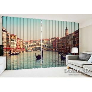 """ФотоШторы широкие """"В Венеции 2"""""""