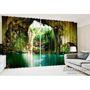 """ФотоШторы широкие """"Водные пещеры"""""""