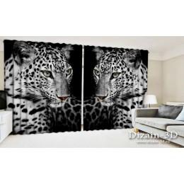 """ФотоШторы широкие """"Два леопарда"""""""