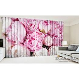 """ФотоШторы широкие """"Бело-розовая нежность"""""""