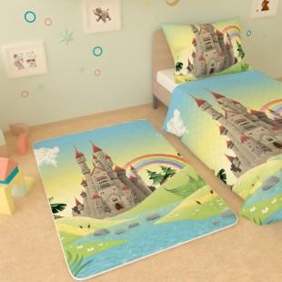 """Детский коврик """"Замок и радуга"""""""