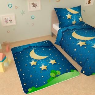 """Детский коврик """"Месяц и звезды"""""""