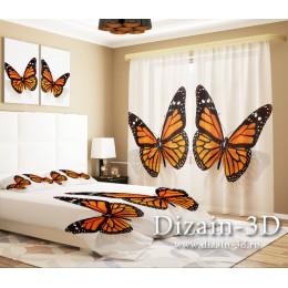 """ФотоТюль """"Бабочки на белом"""""""