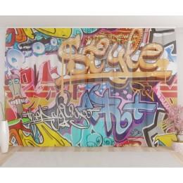 """ФотоТюль широкий """"Граффити"""""""