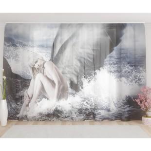 """ФотоТюль широкий """"Девушка ангел"""""""
