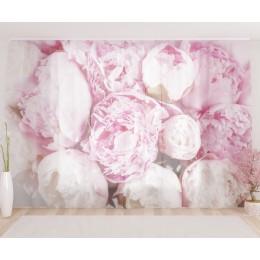 """ФотоТюль широкий """"Бело-розовая нежность"""""""