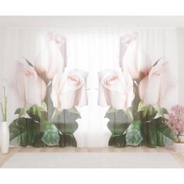 """ФотоТюль широкий """"Букетик роз"""""""