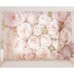 "ФотоТюль широкий ""Бутоны роз"""