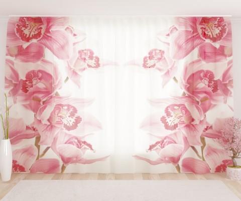 """ФотоТюль широкий """"Винтажные орхидеи"""""""