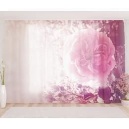 """ФотоТюль широкий """"Винтажные цветы"""""""