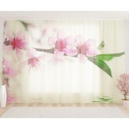 """ФотоТюль широкий """"Водное цветение"""""""