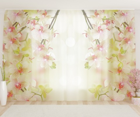 """ФотоТюль широкий """"Воздушная орхидея"""""""