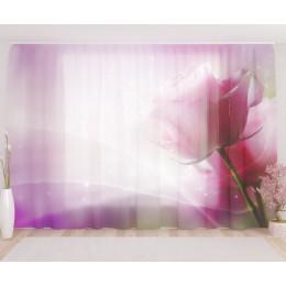 """ФотоТюль широкий """"Магический цветок"""""""