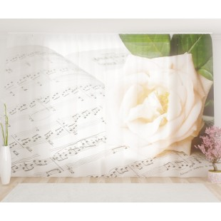 """ФотоТюль широкий """"Музыкальный цветок"""""""