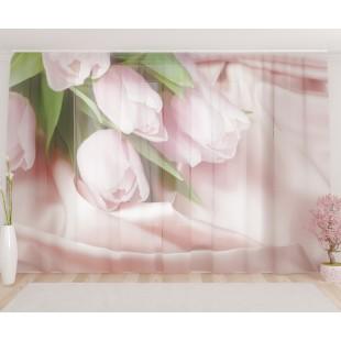 """ФотоТюль широкий """"Нежнейшие тюльпаны"""""""