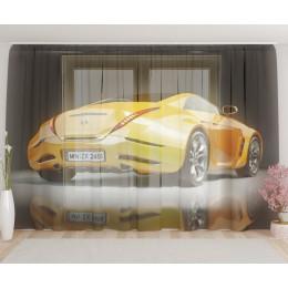 """ФотоТюль широкий """"Желтая машина"""""""