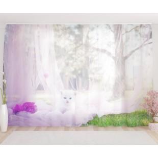 """ФотоТюль широкий """"Маленький котёнок"""""""