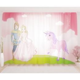 """ФотоТюль широкий """"Принц и принцессa"""""""