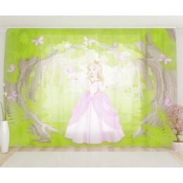 """ФотоТюль широкий """"Принцесса и бабочки"""""""