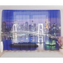 """ФотоТюль широкий """"Бруклинский мост 2"""""""