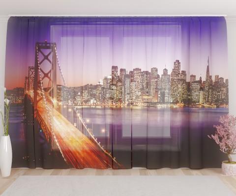 """ФотоТюль широкий """"Бруклинский мост"""""""