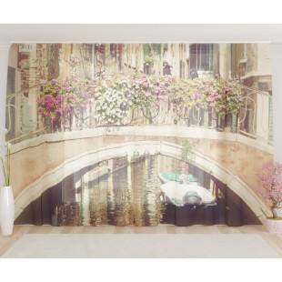 """ФотоТюль широкий """"Венецианский мост"""""""