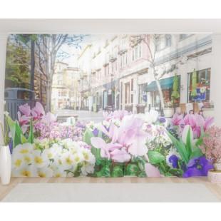 """ФотоТюль широкий """"Весенние цветы"""""""