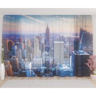 "ФотоТюль широкий ""Вечерний Нью-Йорк"""