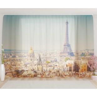 """ФотоТюль широкий """"Вид на Париж"""""""