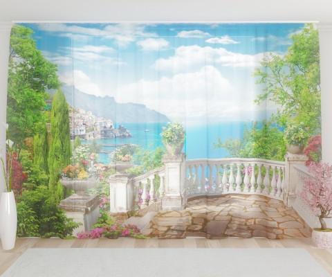 """ФотоТюль широкий """"Вид с балкона 3"""""""