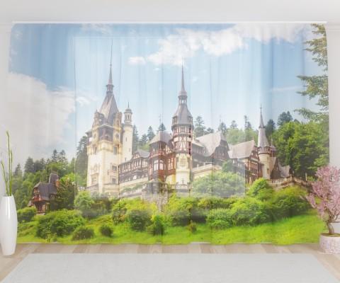 """ФотоТюль широкий """"Замок в Румынии"""""""