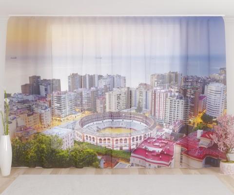 """ФотоТюль широкий """"Испания. Городской пейзаж"""""""