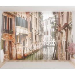 """ФотоТюль широкий """"Канал в Венеции"""""""
